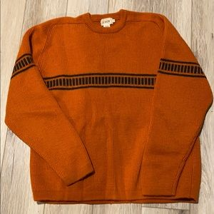 Vintage men's J. Crew 100% wool sweater
